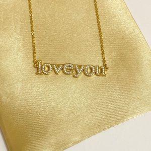 CZ LOVE YOU necklace